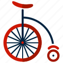 bicycle, bike, circus, cycle, cycling, transport icon