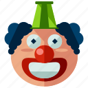 carnival, circus, clown, face, festival icon