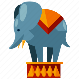 animal, carnival, circus, elephant, festival, show icon