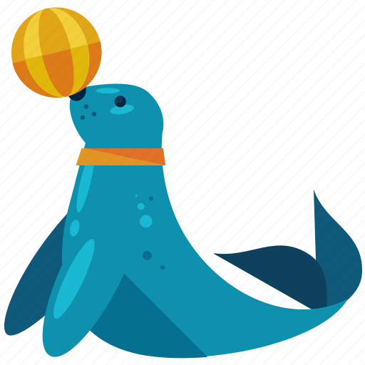 animal, circus, nautical, ocean, seal, show icon
