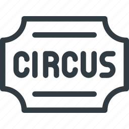 circus, ticket icon