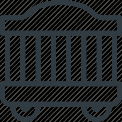 cage, circus, wagon icon