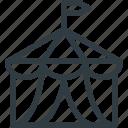 circus, tent icon