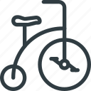 bycicle, circus, clown icon