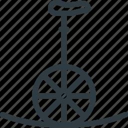 circus, clown, fununicycle icon