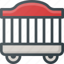 cage, circus, wagon icon