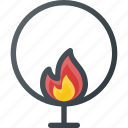 burning, circle, circus, jumping icon