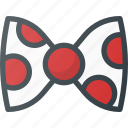 bow, circus, clown icon