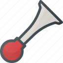 circus, clown, horn icon