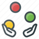 circus, juggling icon