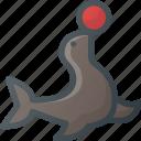 circus, seal icon