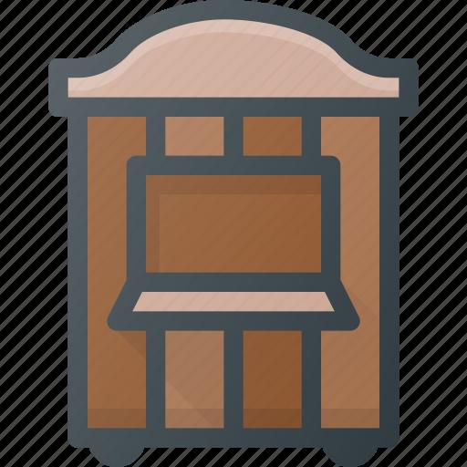 box, circus, ticket icon