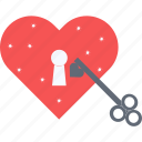 heart care, heart hole, heart lock, heart padlock, lock with heart icon