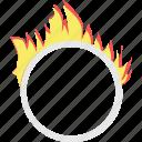 fireground ball, juggling ball, juggling fire, ring of fire, ring of juggling icon