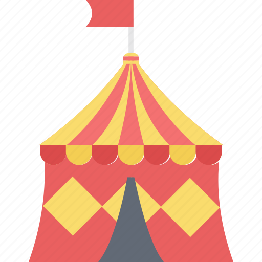 camping, circus tent, leisure, tent, tour, visitor icon