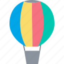 air balloon, holiday, flight, leisure, hot air balloon icon