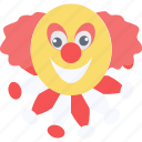 clown, clown face, comedy, funny clown, laughter, smileys icon