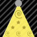 birthday cap, birthday clown, birthday cone hat, cone hat, party cap, party cone hat icon