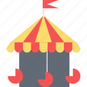 carousel, fair ride, fun, motion ride, park, roundabout icon