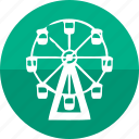 ferris, ferris wheel, fun park, gear, park, play, toy icon