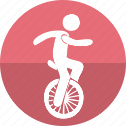 acrobatic, balancing, bike, circus performer, equilibristic, lifestyle, show icon