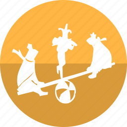 balance, ball, bears show, circus, cirque, fun park, game icon