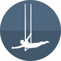 acrobatic, aerial, circus performer, gym, gymnastic, sport, trapeze icon