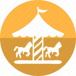 camp, carousel, hourse, merry go round, real estate, show, tent icon