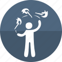 circus performer, fire juggling, funpark, juggler, people, person, show icon
