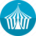 buildings, camp, camping, circus, park, tent, zoo icon