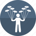 circus performer, gymnast, human, juggler, juggling, manipulation, men icon