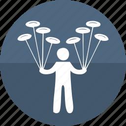 circus performer, gymnast, human, juggler, juggling, manipulation, men icon