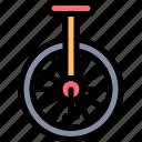 one, wheel icon