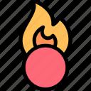 ball, fire icon