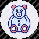 teddy, bear, baby, soft, stuffed, animal