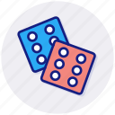 casino, dices, gambling, game, play, dice, video