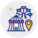fair, location, amusement, park, big, wheel, ferris