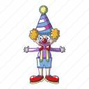 cartoon, character, circus, clown, colorful, costume, funny