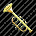 audio, bugle, cartoon, horn, jazz, music, trumpet
