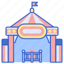admission, enterance, security, tickets icon