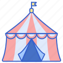 big, carnival, circus, tent, top icon