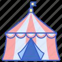 circus, top, big, tent, carnival
