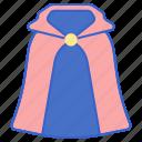 cape, costume, hero, magic, magician, superhero icon