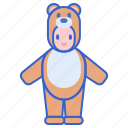 bear, carnival, costume, suit