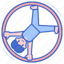 ring, cyr, german, wheel, performance icon