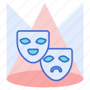 comedy, comedy and drama, drama, entertainer, masks icon