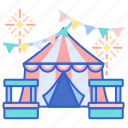 camp, carnival, fair, park, tent icon