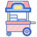 carnival, cart, food, stand icon