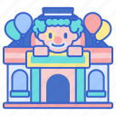 amusement, fun, funfair, funhouse, house, park icon