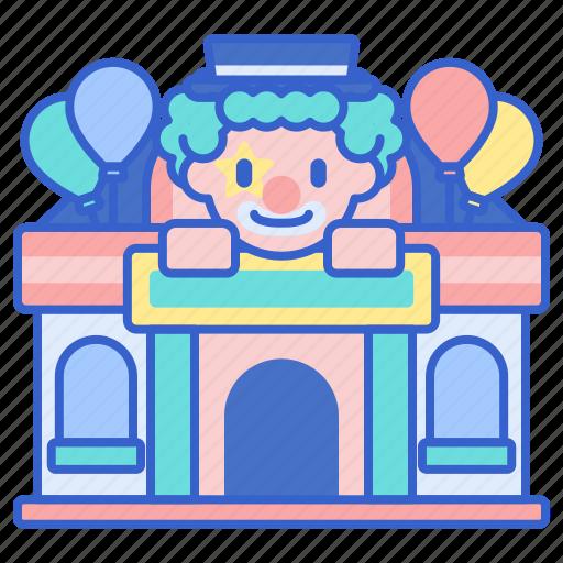 amusement, fun, funfair, funhouse, house, park icon